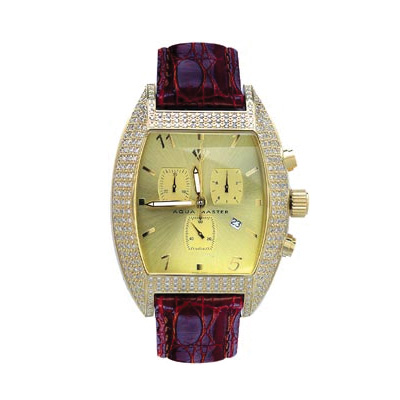 Aqua Master Iced Out Watches Mens Diamond Watch 3.50ct Aqua Master Iced Out Watches Mens Diamond Watch 3.50ct