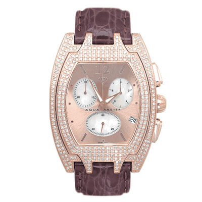 Aqua Master Iced Out Watches Mens Diamond Watch 4.00ct