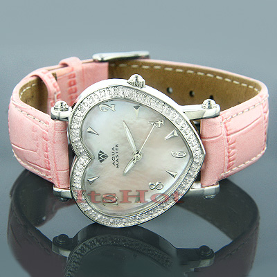 Aqua Master Ladies Watches Diamond Heart Watch 0.50ct