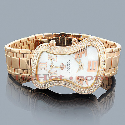 Aqua Master Watches Dual Time Zone Diamond Watch 1.50ct Aqua Master Watches Dual Time Zone Diamond Watch 1.50ct