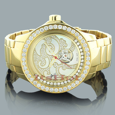 Aqua Master Watches: Mechanical Mens Diamond Watch 7.50ct Aqua Master Watches: Mechanical Mens Diamond Watch 7.50ct
