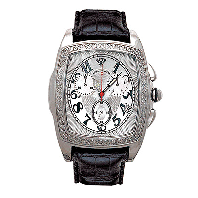 Aqua Master Watches Mens Diamond Watch 1.50ct Silver