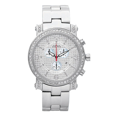 Aqua Master Watches Mens Diamond Watch 2.60ct Aqua Master Watches Mens Diamond Watch 2.60ct