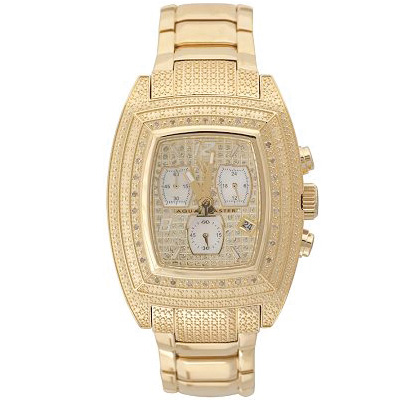 Aqua Master Watches Mens Diamond Watch Pyramid 26J
