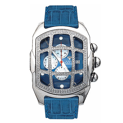 Aqua Master Watches Mens Diamond Watch w Cage 2.25ct