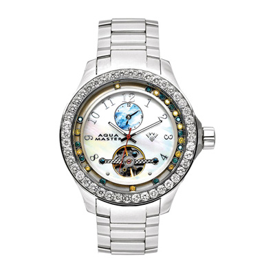 Aqua Master Watches Mens Floating Diamond Watch 5.75ct Aqua Master Watches Mens Floating Diamond Watch 5.75ct