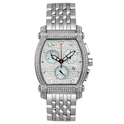 Aqua Master Watches Unisex Real Diamond Watch 2.50ct Main Image