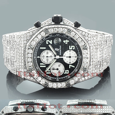 Audemars Piguet Mens Diamond Watch 21.75ct Main Image