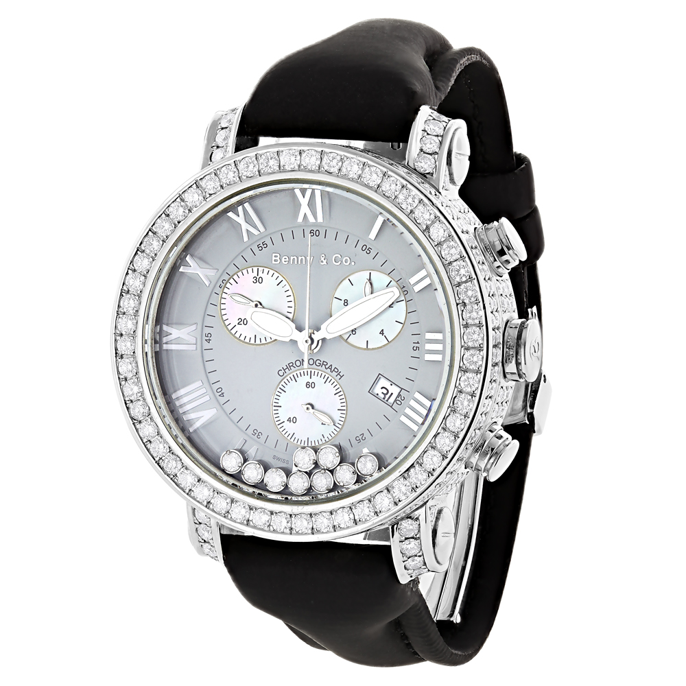 Swiss Made Benny and Co Mens Floating VS Diamond Watch 8 Carats