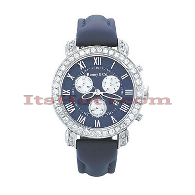 Benny Co Mens Diamond Watches Collection 3ct Navy Benny Co Mens Diamond Watches Collection 3ct Navy
