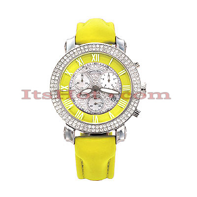 Benny Co Womens Diamond Watch 1.9ct Yellow