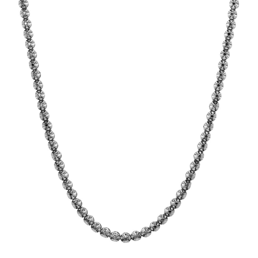 Black Diamond Jewelry 10K Eternity Diamond Necklace 9ct Main Image