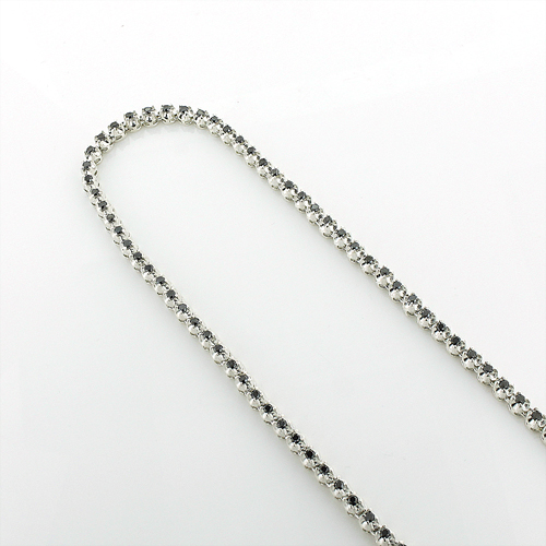 Black Diamond Jewelry: Eternity Diamond Necklace Sterling Silver Chain Main Image