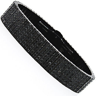 Mens Stainless Steel Bracelets With Diamonds