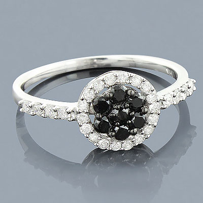 Black Diamond Promise Ring 14K 0.52ct Main Image