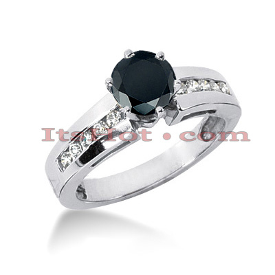 Black Diamond Ring: Unique Engagement Jewelry 0.82ct 14K Gold Main Image