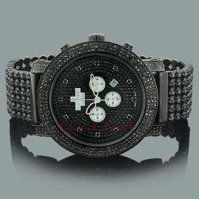 Black Diamond Watches: ICE TIME Crown Mens Watch 8 Carats
