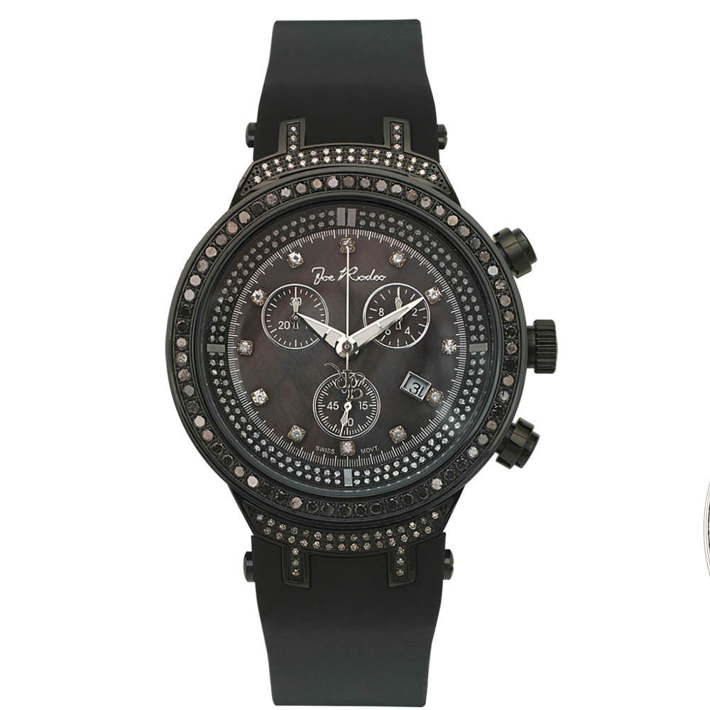 Black Diamond Watches: Joe Rodeo Master Diamond Watch 2.65ct Main Image