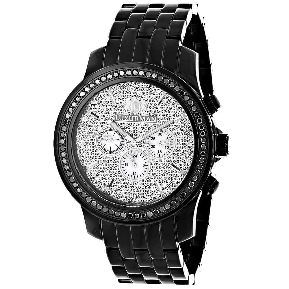 Black Diamond Watches: Luxurman Mens Watch 2.25ct Main Image