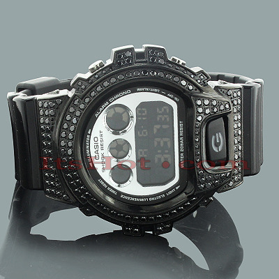 Black G-Shock Watches: CZ Crystal Watch 4ct Black G-Shock Watches: CZ Crystal Watch 4ct