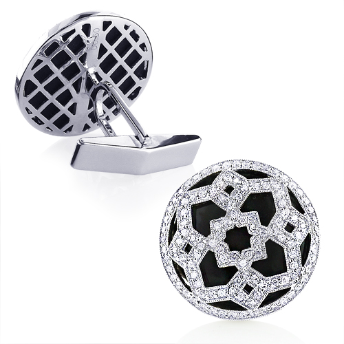 Black Onyx and Diamond Fancy Cufflinks For Men black-onyx-and-diamond-fancy-cufflinks-for-men_1