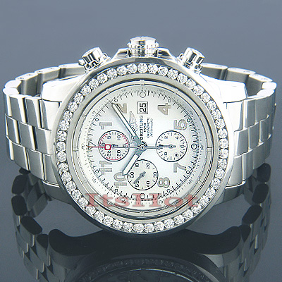 Breitling Super Avenger Diamond Watch 6ct Main Image