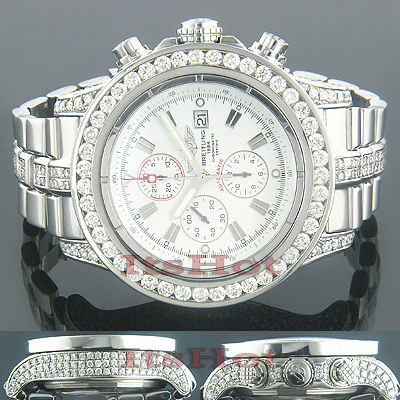 Breitling Super Avenger Mens Chronograph Diamond Watch 12.00 ctw Main Image