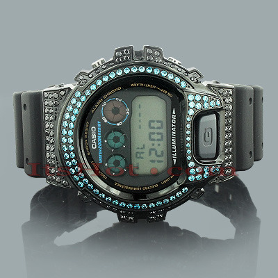 Casio Black Blue G-Shock Watch with Crystals Casio Black Blue G-Shock Watch with Crystals
