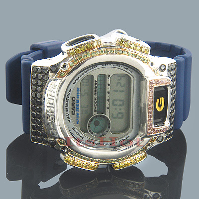 Casio G-Shock Diamond Watch DW-9052 4ct Sterling Silver Casio G-Shock Diamond Watch DW-9052 4ct Sterling Silver