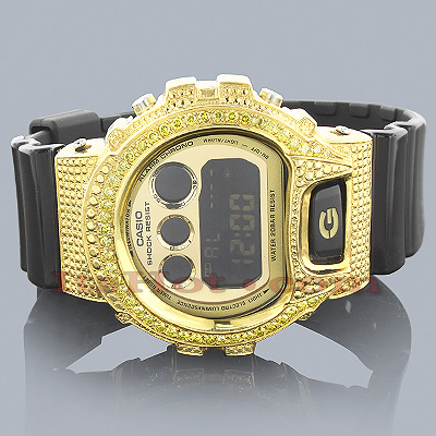 Casio G-Shock Yellow Diamond Watch 2.00ct DW-6900 Main Image