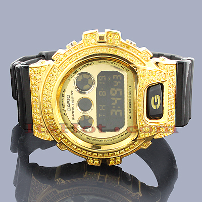 Casio Yellow G-Shock Watch DW6900 CZ Crystals