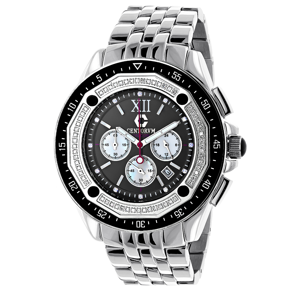 Centorum Diamond Watch: Mens Chronograph Falcon 0.55ct Main Image