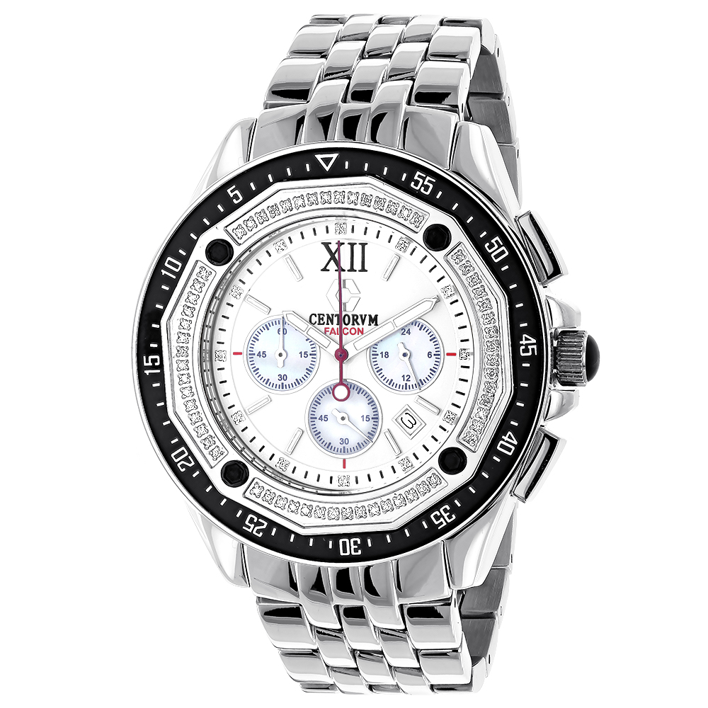 Centorum Falcon Mens Diamond Watch 0.55ct Chronograph Main Image