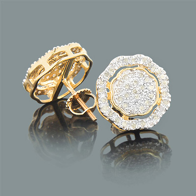 Champagne Color Diamond Earrings 0.60ct 10K Gold champagne-color-diamond-earrings-060ct-10k-gold_1
