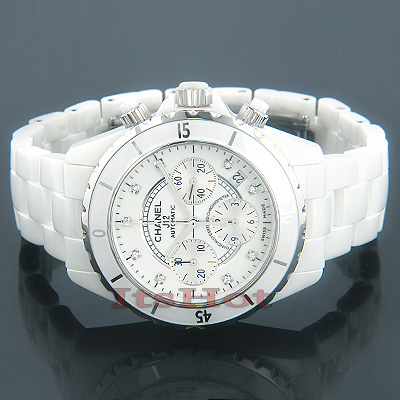 Chanel J12 Diamonds Automatic Ceramic Watch White