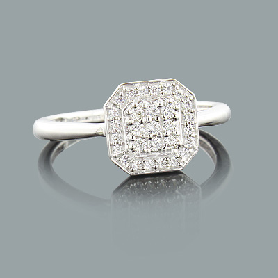 Cheap Diamond Promise Ring 0.23ct Sterling Silver Jewelry