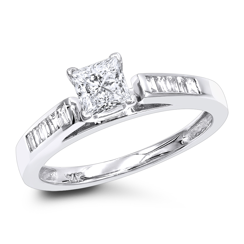 Cheap Engagement Rings 075ct Princess Cut Diamond Engagement Ring