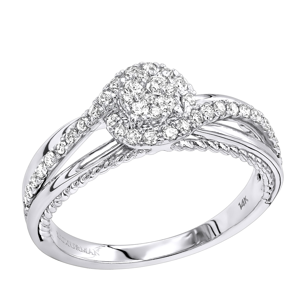 Cheap Wedding Bands For Women: Cheap Engagement Rings Cluster Diamond Promise Ring For