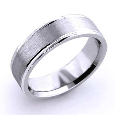 Cosmopolitan Wedding Band for Men 18K Solid Gold Main Image