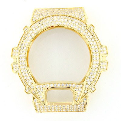 Crystal G-Shock Bezel Yellow Gold Tone  crystal-g-shock-bezel-yellow-gold-tone_1