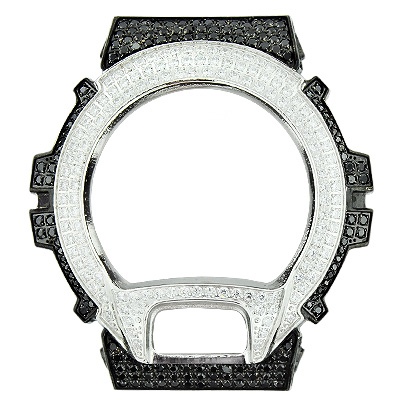 Custom Black and White G-Shock Bezel with Crystals  custom-black-and-white-g-shock-bezel-with-crystals_1