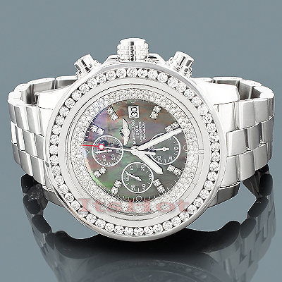 Custom Breitling Super Avenger Mens Diamond Watch 5.50ct Main Image