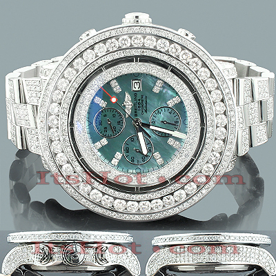 Custom Diamond Breitling Super Avenger Mens Watch 36.55ct Custom Diamond Breitling Super Avenger Mens Watch 36.55ct