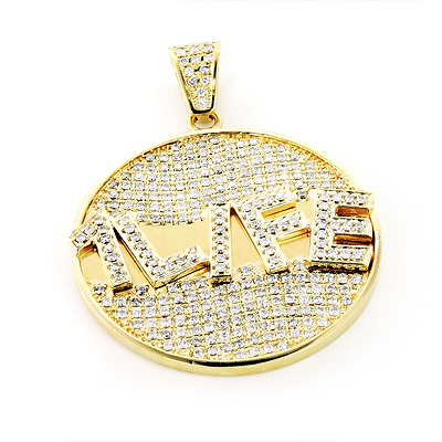 Custom Jewelry Made: Yellow Gold Diamond Pendant 5.90ct 10K Main Image
