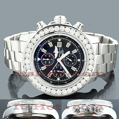Custom Large Diamond Bezel Breitling Super Avenger Watch 12.50 Main Image
