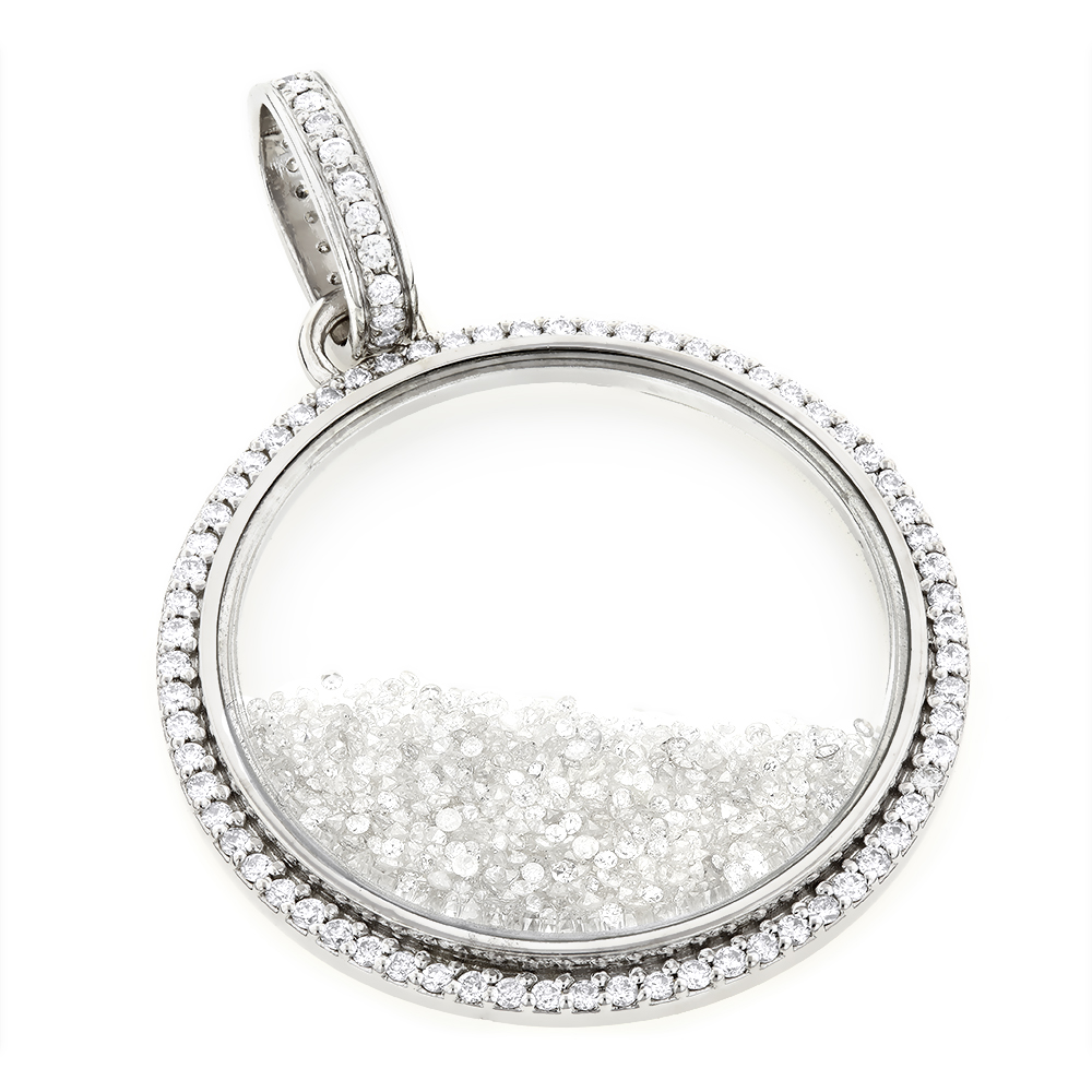 Custom Made Diamond Shaker Pendant 8.7ct Circle Jewelry wh