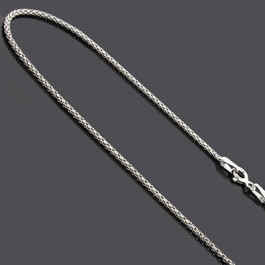 e2506f40a83 Ladies Sterling Silver Chains: Fancy Box Chain Necklace 16
