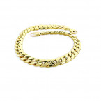 10K Yellow Gold Miami Cuban Link Curb Chain Bracelet 9mm 7.5-9in