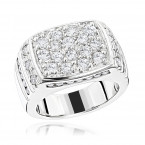 14K Gold Men's Diamond Ring 2.68ct