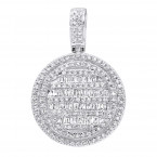 Luxurman High Fashioned Diamond Round Pendant for Women in 14K gold 0.8CT